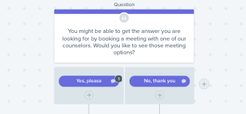 chatbot playbook book a meeting