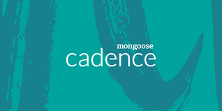Cadence logo on top of green and blue texture
