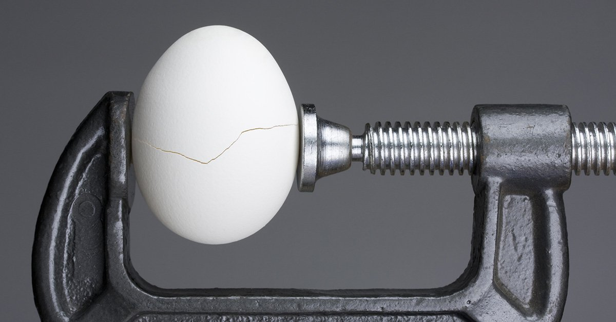 egg cracking in clamp