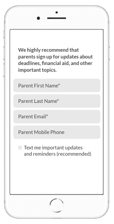 parents sign up for text messages